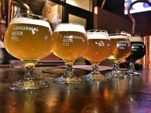 Beer flights at The Cork & Craft